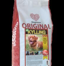 Kingsmoor original er glutenfri og indeholder fiskeolie som omega-3 kilde. Har du spørgsmål til hundefodring, svarer vi altid gerne.