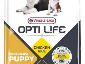 Opti Life PUPPY medium giver din hvalp alle de nødvendige næringsstoffer for en afbalanceret og sund vækst. Det indeholder 85% animalsk protein.